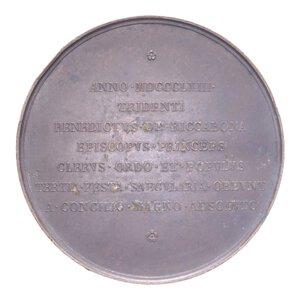 obverse: PIO IX MEDAGLIA 1863 300° CONCILIO DI TRENTO R CU 63,31 GR. 52 MM. BB+