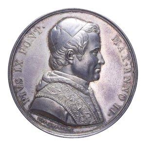 reverse: PIO IX MEDAGLIA 1847 BASILICA R AG. 33,40 GR. 43,2 MM. SPL+