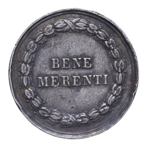 obverse: PIO IX MEDAGLIA BENE MERENTI AG. 14,57 GR. 31,2 MM. MB-BB