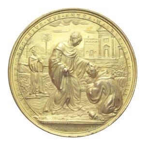 obverse: GREGORIO XVI MEDAGLIA 1834 OSPIZIO S.S. MICHELE MAURO E BENEDETTO R CU DORATO 77,32 GR. 55,5 GR. SPL