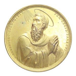reverse: GREGORIO XVI MEDAGLIA 1834 OSPIZIO S.S. MICHELE MAURO E BENEDETTO R CU DORATO 77,32 GR. 55,5 GR. SPL