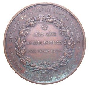 obverse: VITT. EMANUELE II MEDAGLIA 1862 ESPOSIZIONE INTERNAZIONALE LONDRA CU 103,37 GR. BB+