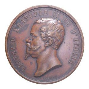 reverse: VITT. EMANUELE II MEDAGLIA 1862 ESPOSIZIONE INTERNAZIONALE LONDRA CU 103,37 GR. BB+