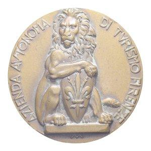reverse: MEDAGLIA AZIENDA AUTONOMA DI TURISMO FIRENZE 58,09 GR. 50 MM. BB (COLPO)