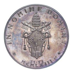 reverse: PAOLO VI MEDAGLIA 1963 AG. 37,60 GR. 44 MM. IN COFANETTO FDC