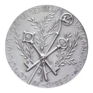 reverse: PAOLO VI MEDAGLIA 1965 AG. 38,77 GR. 44 MM. IN COFANETTO FDC