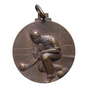 reverse: MEDAGLIA 1932 OND CAMPIONATO BOCCIOFILO MONZESE AE 6 GR. 24 MM. BB-SPL