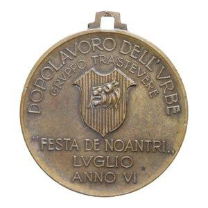 obverse: MEDAGLIA 1928 FESTA DE NOANTRI GRUPPO TRASTEVERE ROMA AE 8 GR. 28 MM. BB+