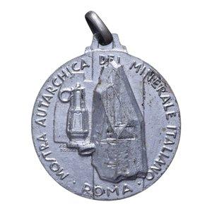 reverse: MEDAGLIA 1939 ROMA MOSTRA DEL MINERALE 7 GR. 33 MM. BB+
