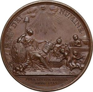 reverse: Louis Le Fort (1668-1748), Chief Burgomaster di Ginevra.. Medaglia 1734