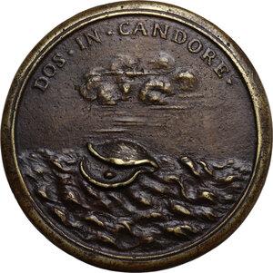 reverse: Vittoria della Rovere (1622-1695). Medaglia della Serie Medicea (1740), bordo modanato