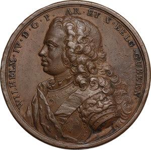 obverse: Guglielmo IV di Orange-Nassau (1711-1751).. Medaglia 1747