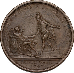 reverse: Guglielmo IV di Orange-Nassau (1711-1751).. Medaglia 1747
