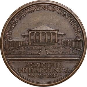 reverse: Scipione Maffei (1675-1755), storico e drammaturgo veronese.. Medaglia per la morte, 1755