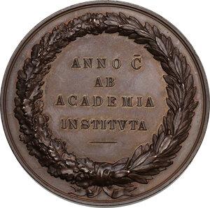 Giacomo Carrara (1714-1796), Conte fondatore dell Accademia di Bergamo. Medaglia 1796 (1896) per il primo centenario della fondazione dell Accademia di Bergamo