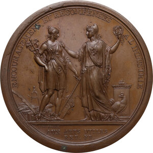 obverse: Direttorio (1795-1799). Medaglia premio della Società d incoraggiamento per l industria, AN 7 (1798)