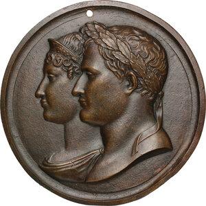 obverse: Napoleone Bonaparte (1769-1821).. Grande placca (1811) con ritratti di Napoleone e Maria Luigia, XIX secolo