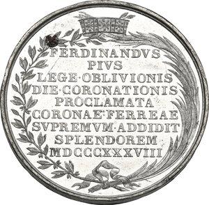 reverse: Ferdinando I d Asburgo-Lorena (1835-1848).. Medaglia 1838 per l incoronazione