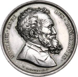 obverse: Michelangelo Buonarroti (1475-1564). Medaglia, XIX sec