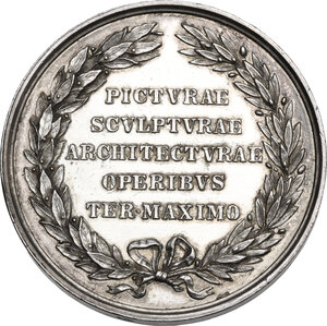 reverse: Michelangelo Buonarroti (1475-1564). Medaglia, XIX sec