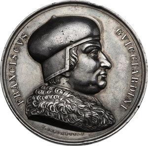 obverse: Francesco Guicciardini (1483-1540). Medaglia, XIX sec