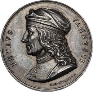 obverse: Pietro Vannucci detto il Perugino (1448-1523).. Medaglia, XIX sec