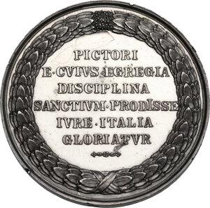reverse: Pietro Vannucci detto il Perugino (1448-1523).. Medaglia, XIX sec