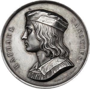 obverse: Raffaello Sanzio (1483-1520).. Medaglia, XIX sec