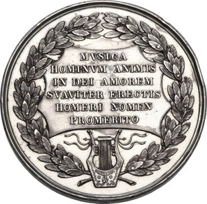 reverse: Pierluigi Palestrina (1525-1594).. Medaglia, XIX sec