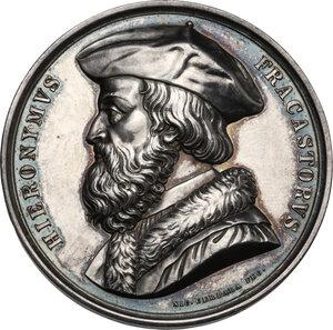 obverse: Girolamo Fracastoro (1476/78-1553).. Medaglia, XIX sec