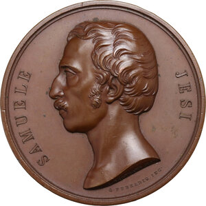 obverse: Samuele Jesi (1788-1853), disegnatore ed incisore.. Medaglia celebrativa 1853