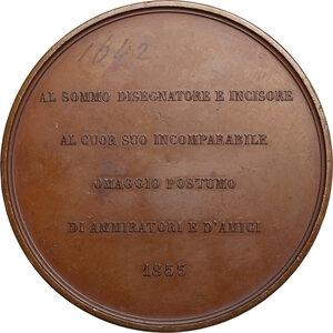 reverse: Samuele Jesi (1788-1853), disegnatore ed incisore.. Medaglia celebrativa 1853