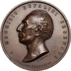 obverse: Maurizio Bufalini (1787-1875), Medico. Medaglia 1863