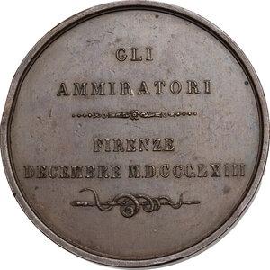 reverse: Maurizio Bufalini (1787-1875), Medico. Medaglia 1863