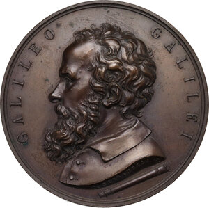 obverse: Galileo Galilei (1564-1642).. Medaglia 1864 per il 3° Centenario della nascita