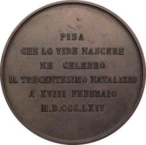 reverse: Galileo Galilei (1564-1642).. Medaglia 1864 per il 3° Centenario della nascita