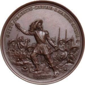 reverse: Alessandro La Marmora (1799-1855). . Medaglia 1886, per il 50° Anniversario della fondazione del Corpo del Bersaglieri