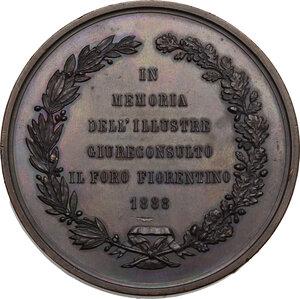 reverse: Ferdinando Andreucci (1806-1888), politico.. Medaglia 1888 in memoria