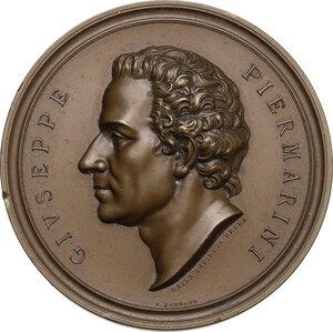 obverse: Giuseppe Piermarini (1734-1808), architetto.. Medaglia 1908 per il primo centenario della morte