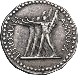 reverse: G.U.F.. Medaglia A. X, per i Littoriali