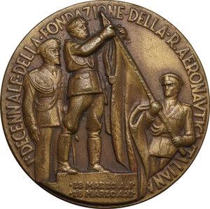 obverse: Medaglia 28 Marzo A. XI per il Primo Decennale della Fondazione della Regia Aeronautica Italiana