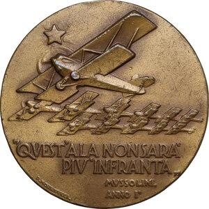 reverse: Medaglia 28 Marzo A. XI per il Primo Decennale della Fondazione della Regia Aeronautica Italiana