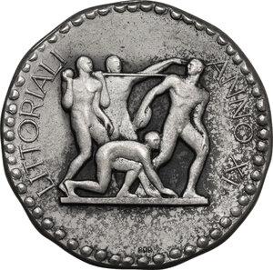 reverse: G.U.F.. Medaglia A. XI, per i Littoriali