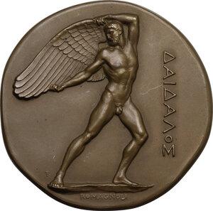 obverse: Medaglia A. XI, 1933 per la Terza Conferenza Internazionale di Diritto Privato Aeronautico di Roma