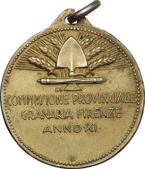 reverse: Medaglia A. XI, Commissione Provinciale Granaria per la Battaglia del Grano