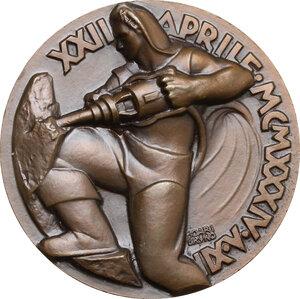 reverse: Medaglia XII Aprile 1934 A. XII per la Direttissima Bologna-Firenze