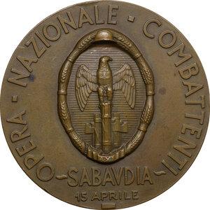 reverse: O.N.C. Sabaudia. Medaglia A. XII