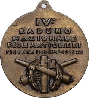 reverse: Medaglia IV Raduno Nazionale degli Artiglieri, Firenze 11-12-13-V-1935 XIII