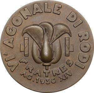 reverse: Medaglia A. XIV, 1936, Agonali di Rodi
