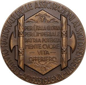 reverse: Medaglia A. XIV 1935-1936, Istituto Nazionale delle Assicurazioni